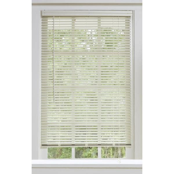 Aluminum alabaster window blinds with 1 inch slats for 2 inch vertical window blinds