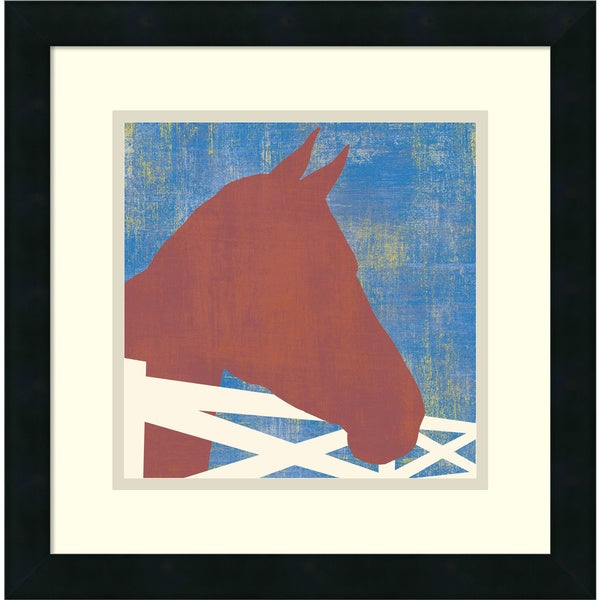 Erin Clark 'Horse' Framed Art Print 16 x 16-inch