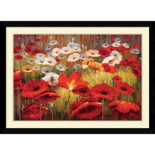 Lucas Santini 'Meadow Poppies II' Framed Art Print 43 x 31-inch