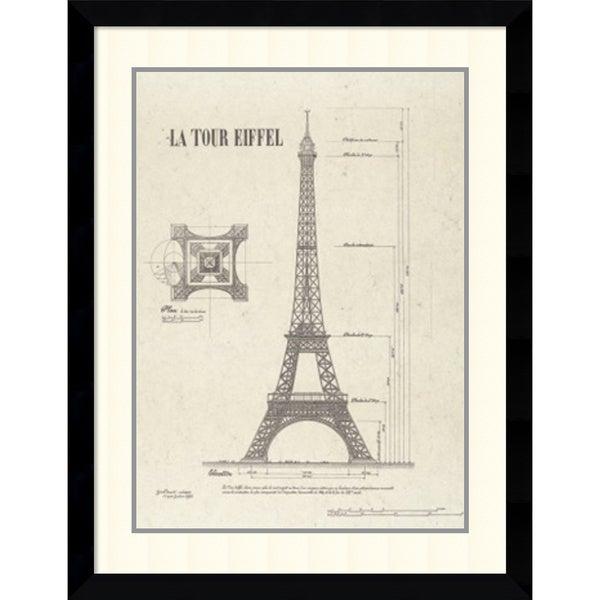 Yves Poinsot 'La Tour Eiffel' Framed Art Print 29 x 36-inch