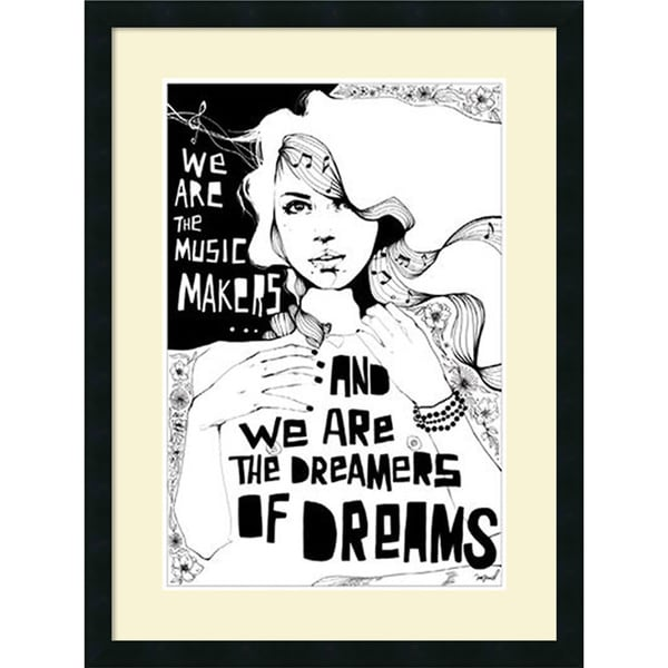 Manuel Rebollo 'Music Makers' Framed Art Print 23 x 30-inch