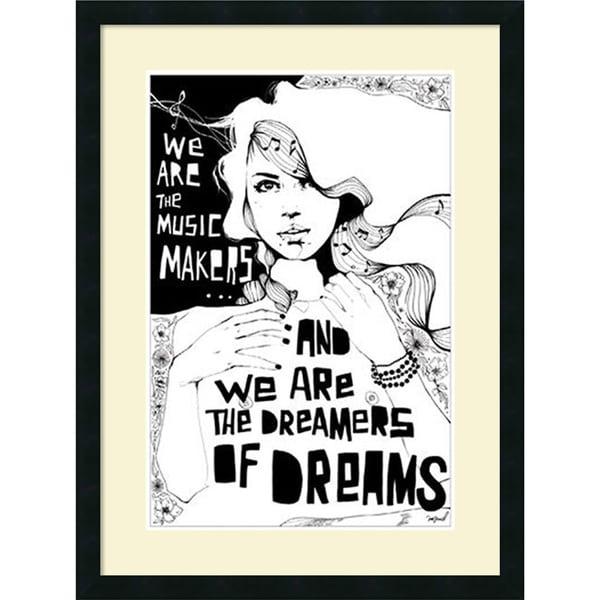Manuel Rebollo 'Music Makers' Framed Art Print 23 x 30-inch
