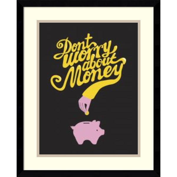 Anthony Peters 'Don't Worry About the Money' Framed Art Print 17 x 21-inch
