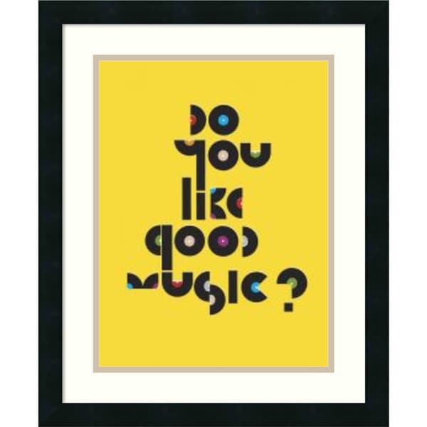 Anthony Peters 'Do You Like Good Music?' Framed Art Print 18 x 22-inch