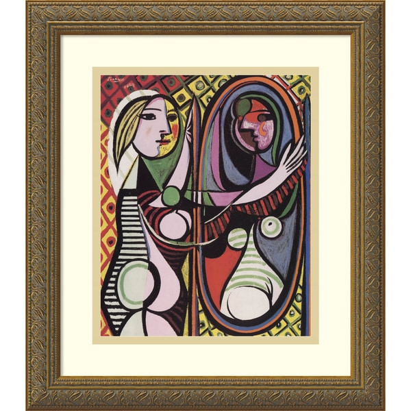 Pablo Picasso 'Girl Before a Mirror, 1932' Framed Art Print 14 x 16-inch