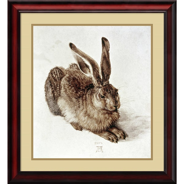 Albrecht Durer 'The Young Hare, 1502' Framed Art Print 23 x 25-inch