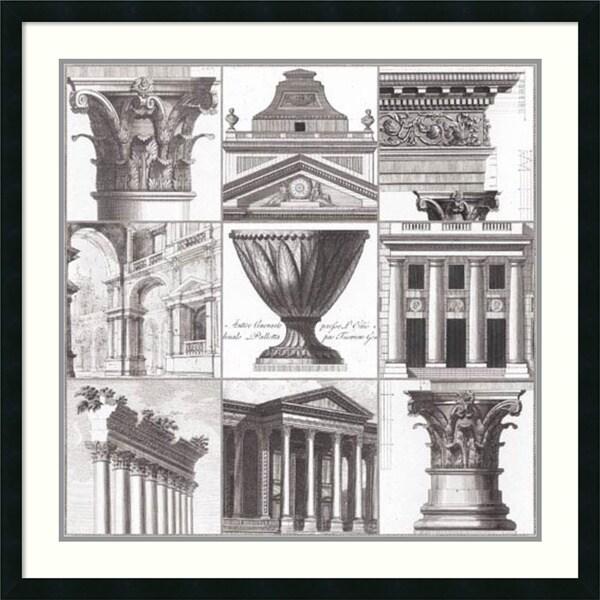 Cassas 'Classic Details' Framed Art Print 34 x 34-inch