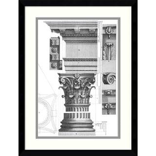 Claude Perrault 'Corinthian Order' Framed Art Print 16 x 20-inch