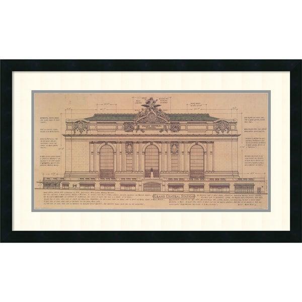 Roger Vilar 'Grand Central (Facade) (small)' Framed Art Print 31 x 19-inch