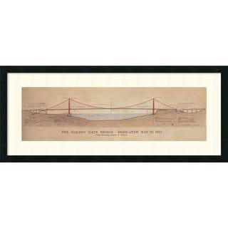 Craig S. Holmes 'Golden Gate Bridge' Framed Art Print 40 x 17-inch