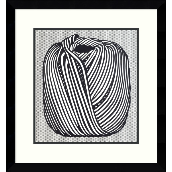 Roy Lichtenstein 'Ball of Twine, 1963' Framed Art Print 15 x 15-inch