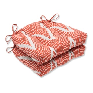 Pillow Perfect Bali Mandarin Reversible Chair Pad (Set of 2)