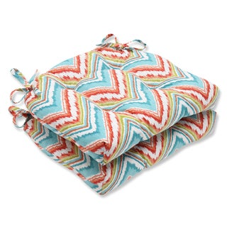 Pillow Perfect Chevron Charade Capri Reversible Chair Pad (Set of 2)