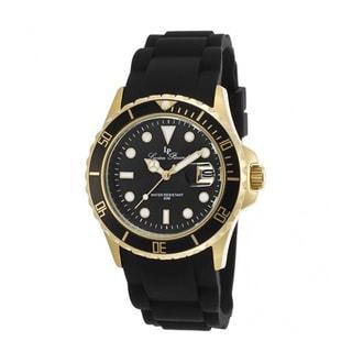 Lucien Piccard Women's Vaux LP-12883-YG-01 Black Silicone Watch