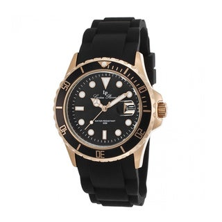Lucien Piccard Women's Vaux LP-12883-RG-01 Black Silicone Watch