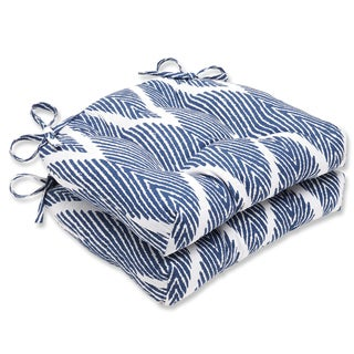Pillow Perfect Bali Navy Reversible Chair Pad (Set of 2)