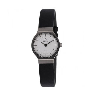 Obaku Women's V133STIRB Black Titanium Watch