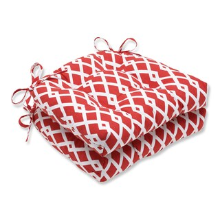 Pillow Perfect Graphic Pomegranate Reversible Chair Pad (Set of 2)