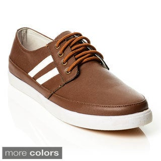 Solo Men's Striped Textured Upper Lace-up Sneaker