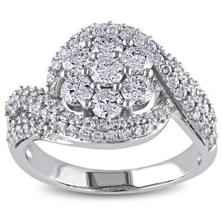 Miadora 14k White Gold 2ct TDW Diamond Engagement Ring (G-H, I1-I2)