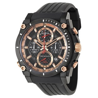 Bulova Men's 98B181 'Precisionist Champlain' Stainless Steel and Rose Goldplated Chronograph Tachymeter Watch