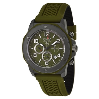 Bulova Men's 98B202 'Marine Star' Stainless Steel and Duramic Chronograph Military Time Watch
