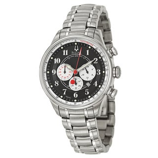 Bulova Men's 96B164 Stainless Steel Chronograph Military Tachymeter Watch