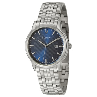 Bulova Men's 96B197 'Bracelet' Stainless Steel Blue Dial Watch