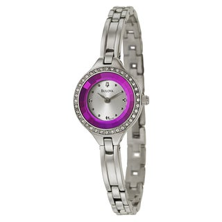 Bulova Women's 96L179 'Crystal' Stainless Steel Japanese Quartz Watch