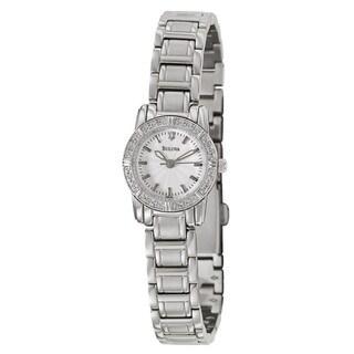 Bulova Women's 96R156 Stainless Steel Diamond Accent Watch