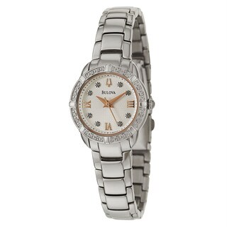 Bulova Women's 96R176 Stainless Steel Rose Goldtone and Diamond Accent Watch