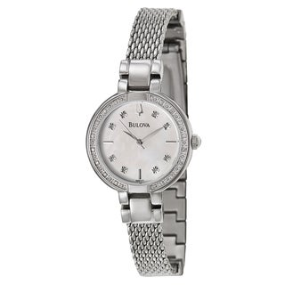 Bulova Women's 'Aracena' 96R177 Stainless Steel Diamond Accent Watch