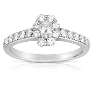 Eloquence 14k White Gold 4/5ct TDW Diamond Ring (H-I, I1-I2)
