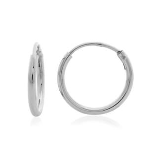 Sterling Essentials Sterling Silver Skinny Tube Hoop Earrings (Set of 6)