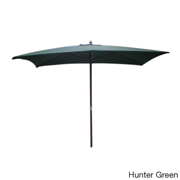 Market Rectangular Wooden Outdoor Umbrella