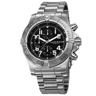 Akribos XXIV Men's Chronograph Quartz Stainless Steel Bracelet Watch
