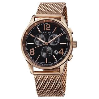 Akribos XXIV Men's Swiss Quartz Chronograph Stainless Steel Mesh Bracelet Watch