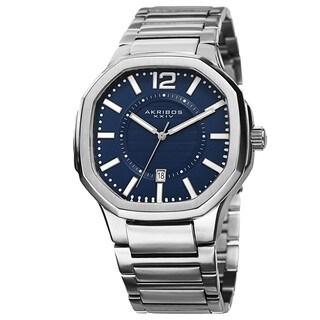 Akribos XXIV Men's Date Step-Dial Stainless Steel Bracelet Watch