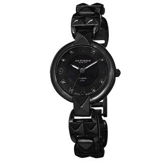 Akribos XXIV Women's Diamond-Accented Swiss Quartz Pyramid Cut Bracelet Watch
