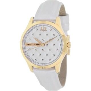 Armani Exchange Women's AX5205 White Leather Quartz Watch
