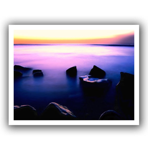 Dean Uhlinger 'Pacific Afterglow' Unwrapped Canvas - Multi 13684456