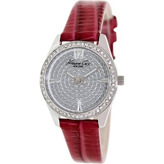 Kenneth Cole Women's KC2843 Red Leather Quartz Watch