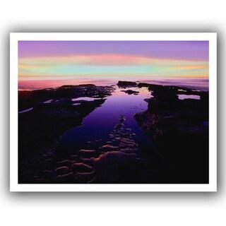 Dean Uhlinger 'Low Tide Afterglow' Unwrapped Canvas