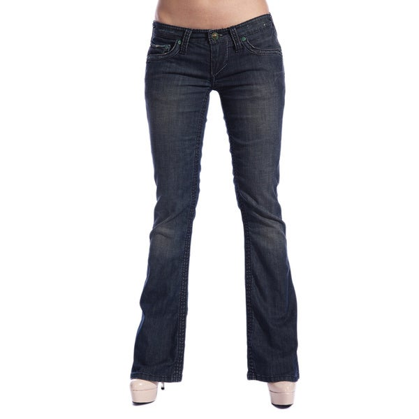 Stitch's Women's Blue Slim Boot Cut Jeans