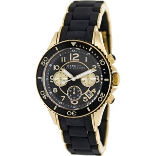 Marc By Marc Jacobs Women's Rock MBM2598 Black Silicone Analog Quartz Watch