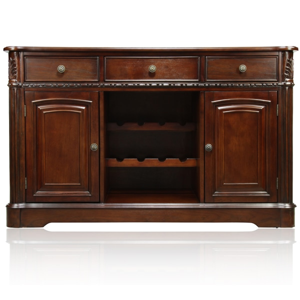 Furniture of America Harper Cherry Formal Dining Server