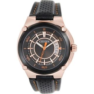 Citizen Men's BK2533-01E Black Leather Quartz Watch