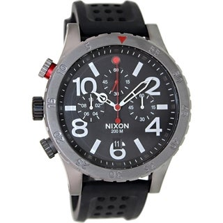 Nixon Men's 48 20 Chrono A2781426 Black Rubber Quartz Watch