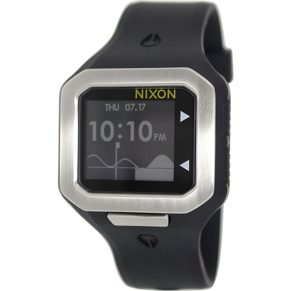 Nixon Men's Supertide A316180 Black Silicone Digital Watch