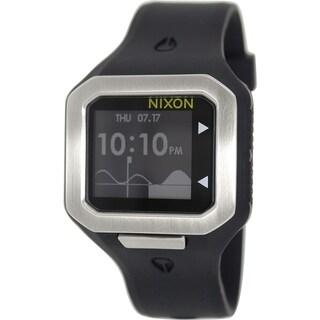 Nixon Men's Supertide A316180 Black Silicone Digital Watch